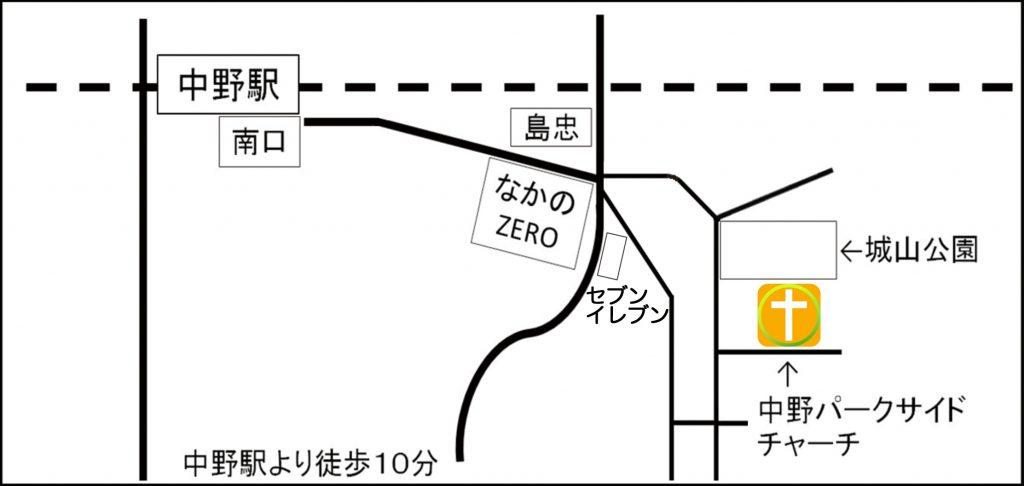 アクセス徒歩用マップ